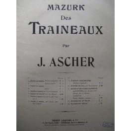ASCHER Joseph Mazurk des traineaux piano