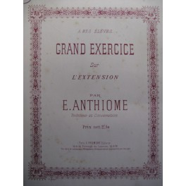 ANTHIOME E. Exercice sur l'Extension piano