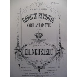 NEUSTEDT Charles Gavotte favorite piano