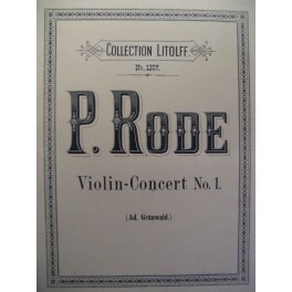 RODE Pierre Concerto n° 1 violon piano