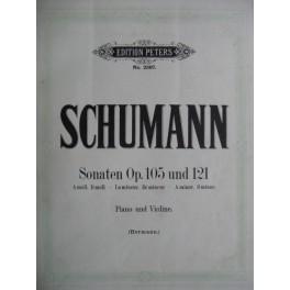 Schumann R. Sonates Op. 105 & 121