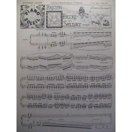 LACOMBE Louis Breton Patre et Soldat Piano 1893