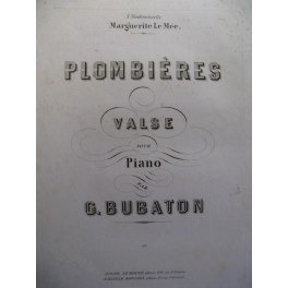 BUBATON Gustave Plombières piano