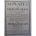 MANGEAN Etienne Sonata Violon Piano