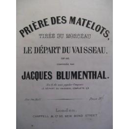 BLUMENTHAL Jacques Prière des Matelots piano