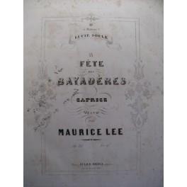 LEE Maurice La Fête des Bayadères Piano