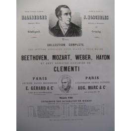 WEBER Carl Maria von Sonate Ut Maj Piano