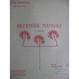 DE SCHEPPER L. Promenade Matinale