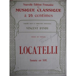 LOCATELLI Pietro Sicilienne ext. Sonate en Sol