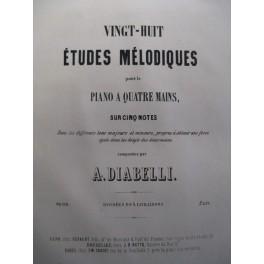 DIABELLI Anton Etudes Mélodiques Piano 4 mains