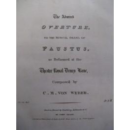 WEBER Carl Maria von Ouverture Paustus piano