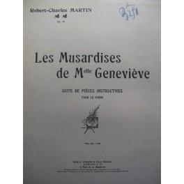 MARTIN Robert-Charles Les Musardises Piano 1922