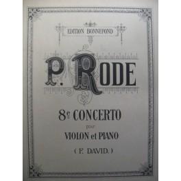 RODE Pierre Concerto n° 8 violon et piano