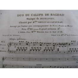BOIELDIEU Adrien Duo du Calife chant piano ca1810