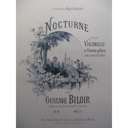 BILOIR Gustave Nocturne Violon Piano