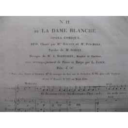 BOIELDIEU Adrien La Dame Blanche n° 11 chant piano