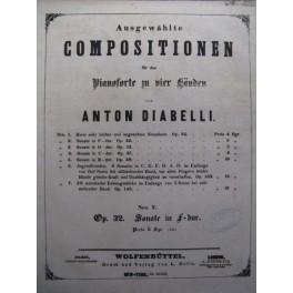 DIABELLI Anton Sonate op32 Piano 4 mains