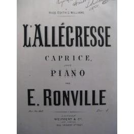 RONVILLE E. L'Allégresse Piano