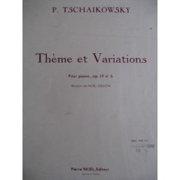 TCHAÏKOVSKI Piotr Ilitch Thème et Variations op. 19 n° 6
