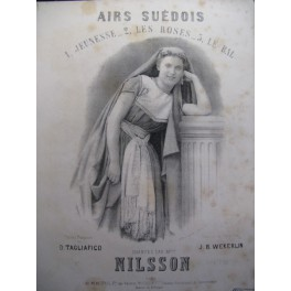 WEKERLIN J. B. Air Suédois Chant Piano 1892