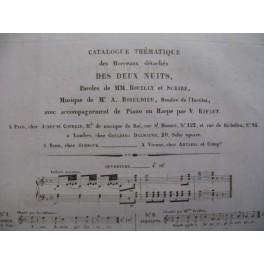 BOIELDIEU Adrien Les Deux Nuits Chant piano ca1820