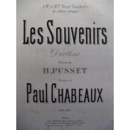 CHABEAUX Paul Les Souvenirs chant piano ca1880