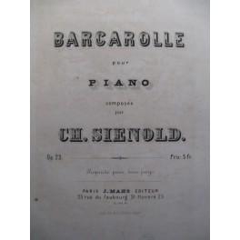 SIENOLD Ch. Barcarolle Piano 1868