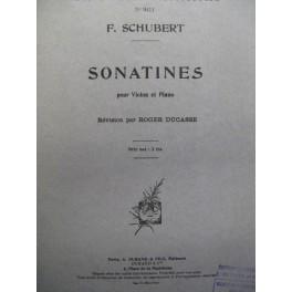 SCHUBERT Franz Sonatines violon piano