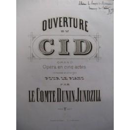DUNIN JUNDZILL Adam Ouverture du Cid piano signé ca1850
