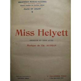 AUDRAN Edmond Miss Helyett chant piano