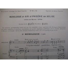 GLUCK C. W. von Iphigénie en Tauride Monologue chant et piano