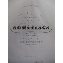 DUVERNOY Jean-Baptiste Fantaisie Piano 1840