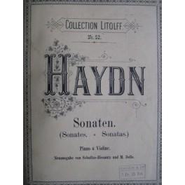 Haydn J. Sonates violon et piano