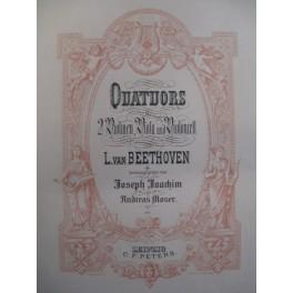BEETHOVEN Quatuors Intégrale relié Peters