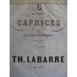 LABARRE Théodore 3 petits Caprices Piano