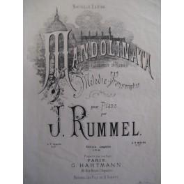 RUMMEL J. Mandolinata Piano 1871