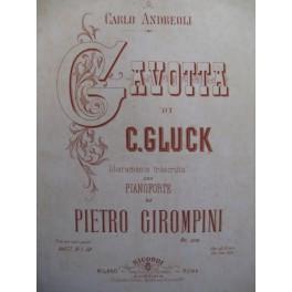 GIROMPINI Pietro Gluck Gavotta Piano 1877