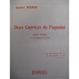 HERMAN Charles 2 Caprices de Paganini Violon Piano