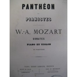 MOZART W. A. 18 Sonates Violon Piano
