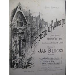 BLOCKX Jan Princesse d'Auberge chant piano 1897
