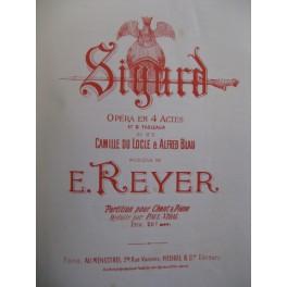 REYER E. Sigurd Opéra Chant Piano 1891
