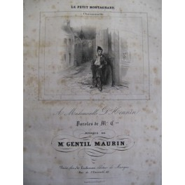 GENTIL MAURIN Le Petit Montagnard Chant Piano