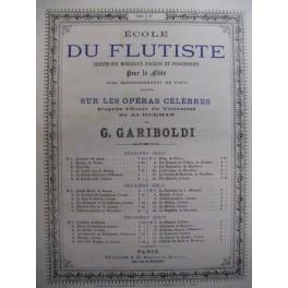 HERMAN Adolphe Fra-Diavolo Auber Flute Piano 1876