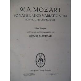 MOZART Wolfgang Amadeus 22 Sonates et Variations