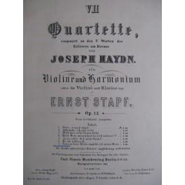 HAYDN Joseph Quartett n° 7 Violon Orgue Piano