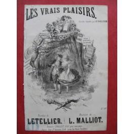 MALLIOT L. Les Vrais Plaisirs guitare chant