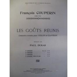 COUPERIN François Les Goûts Réunis 9e concert violon clavecin piano
