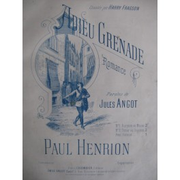 HENRION Paul Adieu Grenade