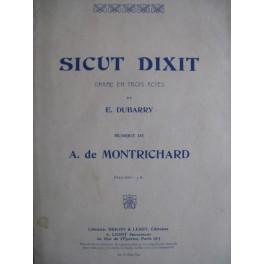 DE MONTRICHARD A. Sicut Dixit chant piano