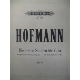 HOFMANN Richard Die Ersten Studien Alto